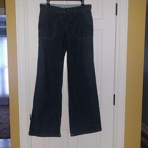 BCBG Sam Wide Leg Jeans in Downtown Wash